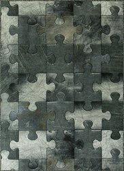 Dywan w puzzle szare