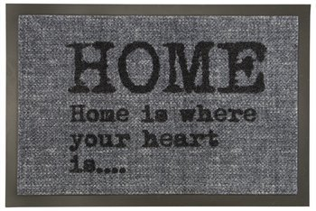 Wycieraczka Home 70 PC Szary Home is where your heart is Napis