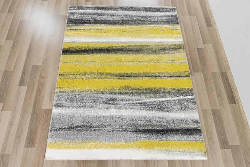 Dywan Sumatra Szary żółty C194a Greyyellow