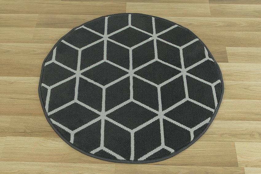 Okrągły Dywan Luna 50374689922 Cubes Grafit