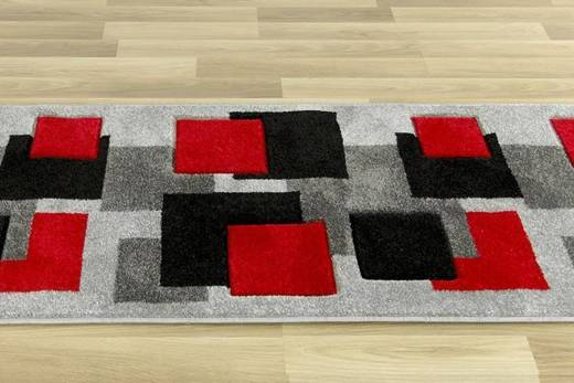 Chodnik Fushe 2041 grey red szer. 70 cm